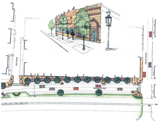 Landscape architecture plan for Dublin GA business district