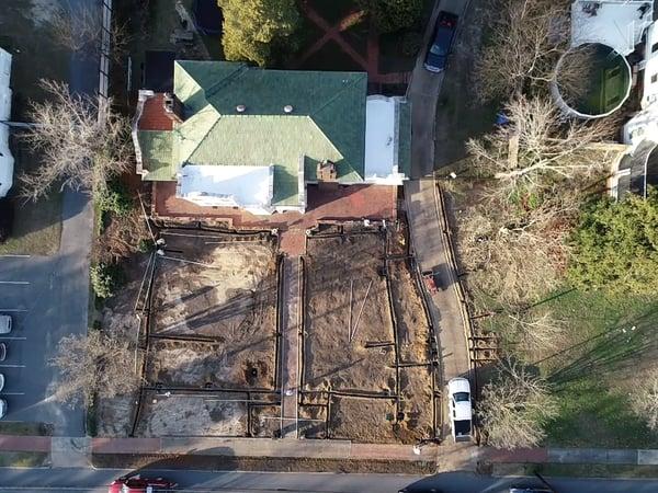 T lake drone construction 1